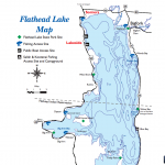 Map of Flathead Lake