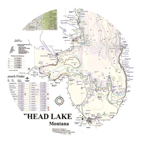 <strong>FLATHEAD LAKE MAP</strong>